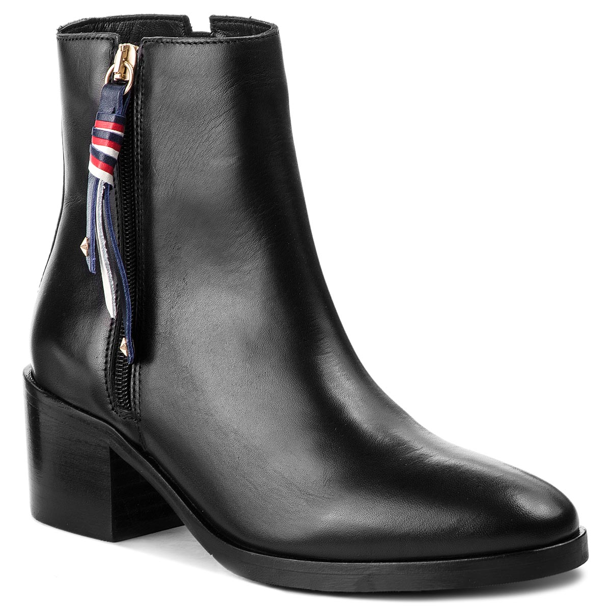 Botas TOMMY HILFIGER - Corporate Tassel Mid FW0FW03430  Black 990
