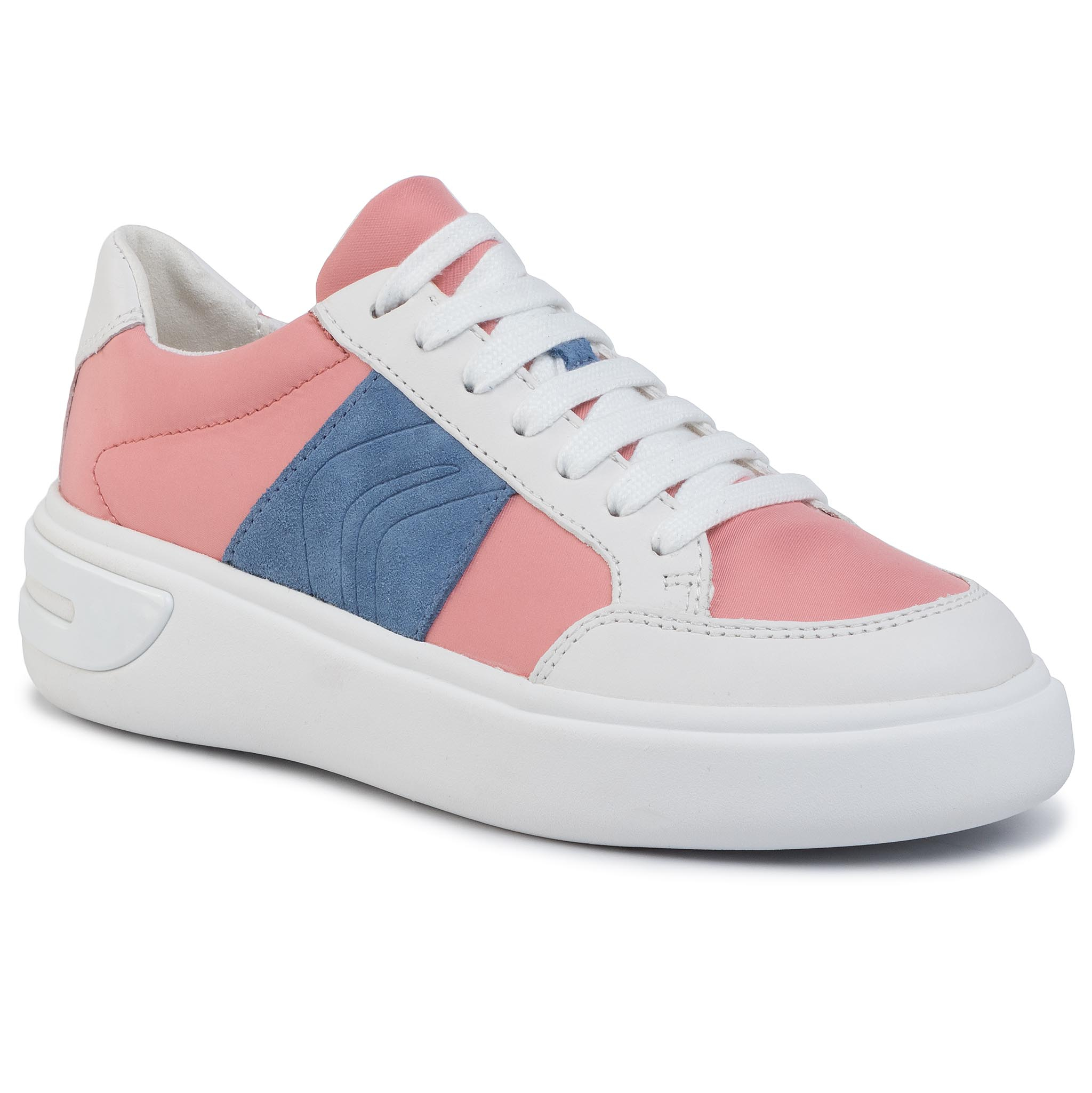Sneakers GEOX - D Ottaya F D92BYF 01185 C7204 Coral/White
