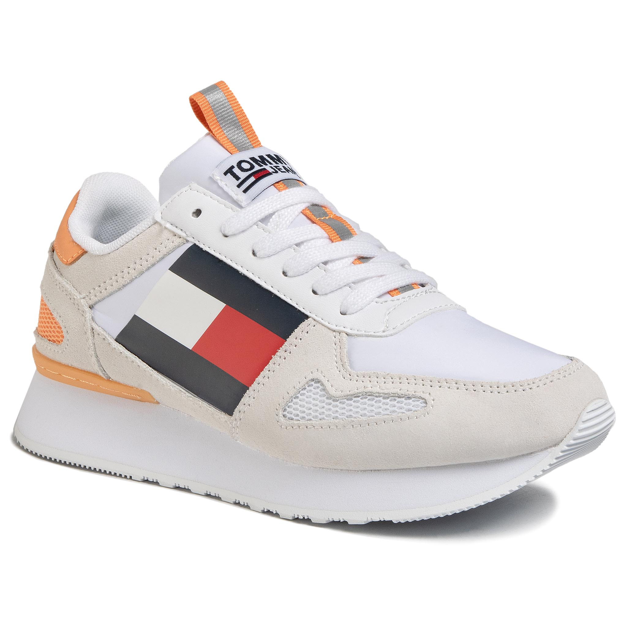 Sneakers TOMMY JEANS - Lifestyle Runner EN0EN00779 White YBS