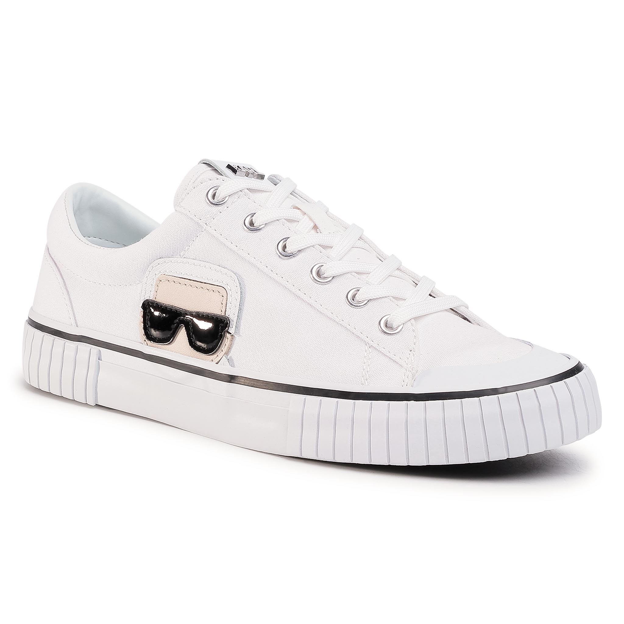 Zapatillas KARL LAGERFELD - KL50120 White Canvas