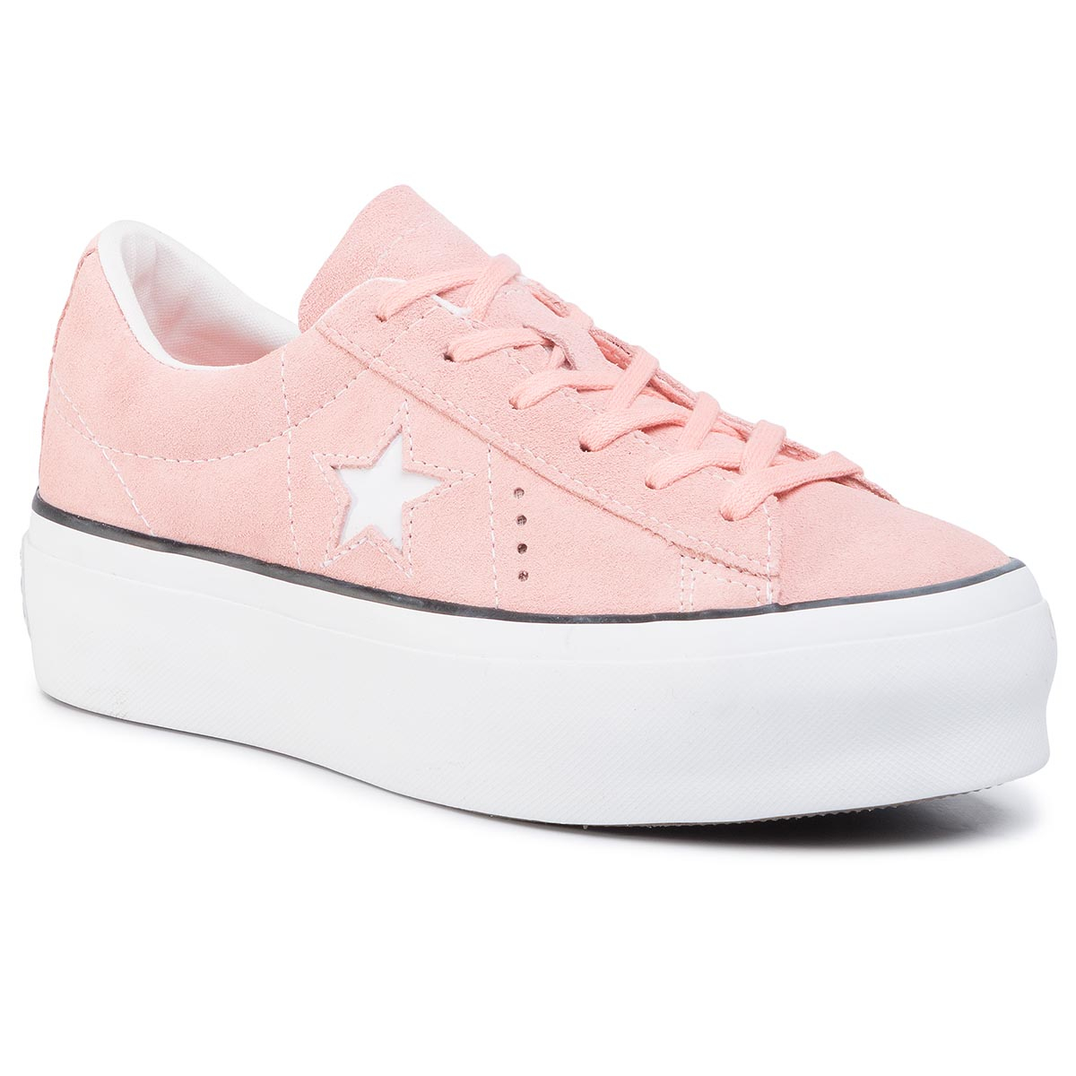 Sneaker Converse Sneakers CONVERSE - One Star Platform Ox Bleached Coral/Black/White