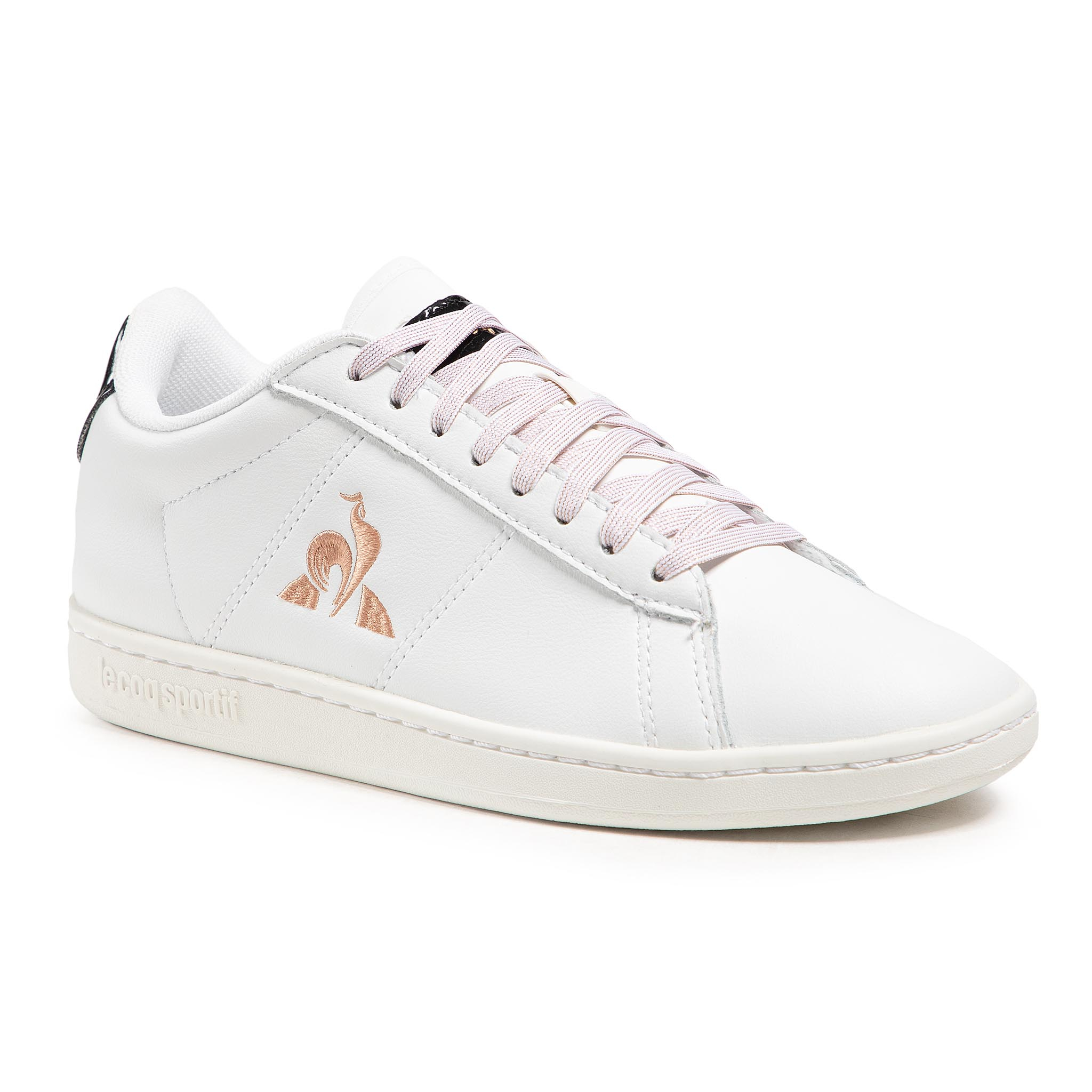 Sneakers LE COQ SPORTIF - Courtset W Patent 2110126  Optical White/Rose Gold
