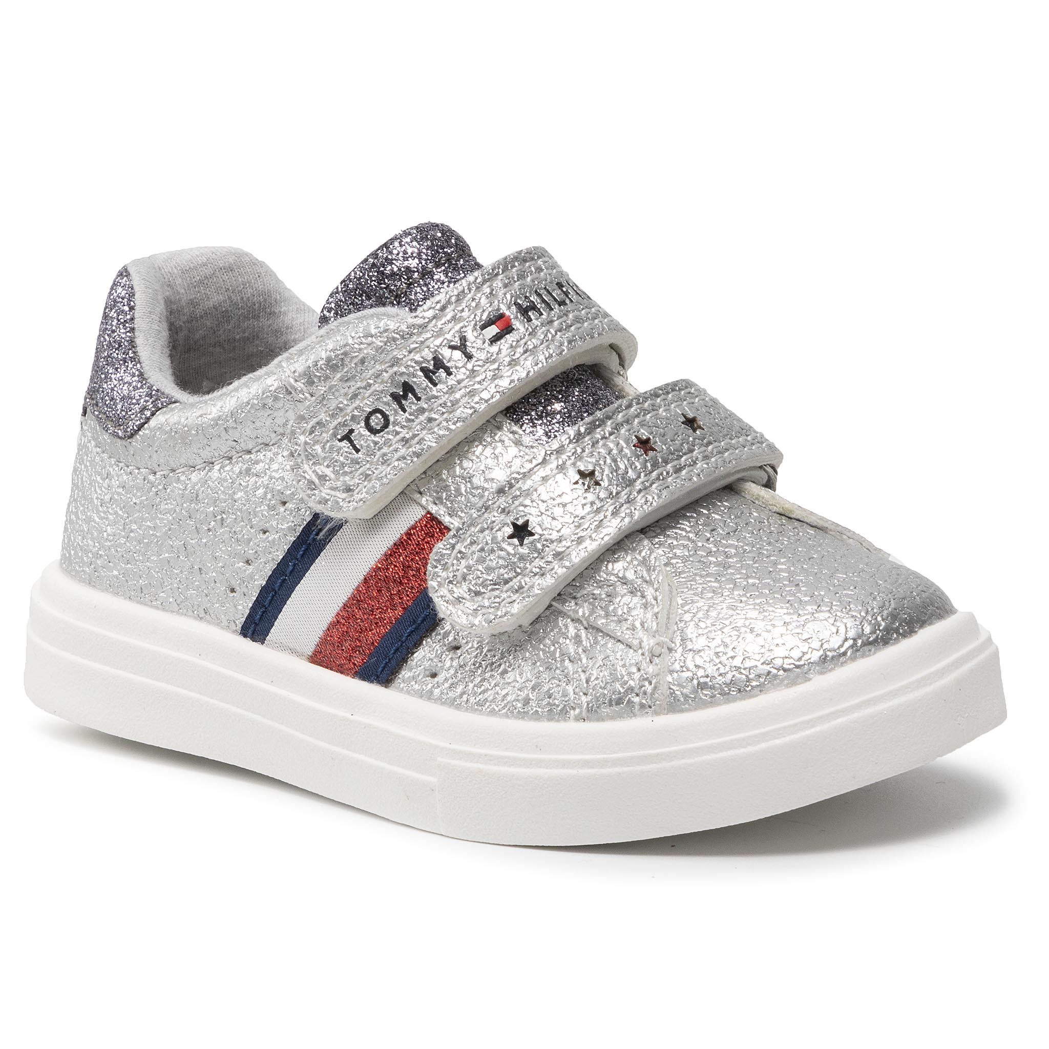 Sneakers TOMMY HILFIGER - Low Cut Velcro Sneaker T1A4-31012-0621939 M Laminated Silver