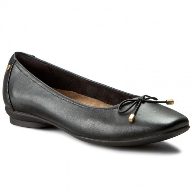 Zapatos CLARKS - Candra Light 261204554 Black Leather - Ballerinas - Zapatos - Zapatos de mujer