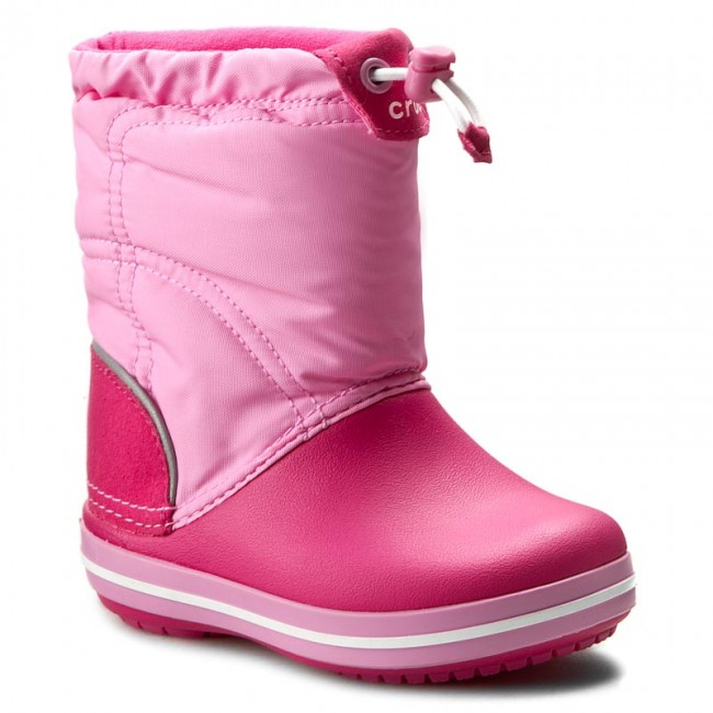 cd38f3b7d1c Botas de nieve CROCS - Crocband Lodgepoint Boot K 203509 Candy Pink Party  Pink