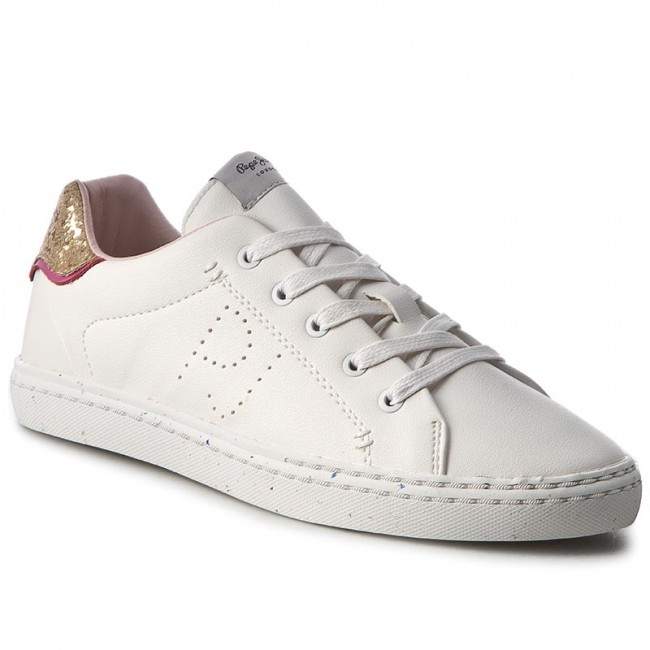 Zapatillas PEPE JEANS - Halley Basic PGS30254 White 800 - Zapatillas - Zapatos - Zapatos de mujer   Zapatos casuales salvajes