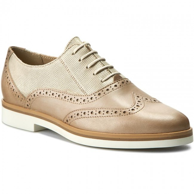 zapatos Oxford C2LH6 GEOX - D Janalee G D725AG 0SKMR C2LH6 Oxford Lt Gold/Lt Taupe - Zapatos Oxford - Zapatos - Zapatos de mujer da6e4d
