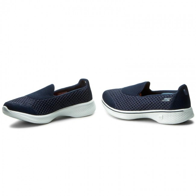 14145 Zapatos nvw white Skechers Navy Kindle 67gbfvYy