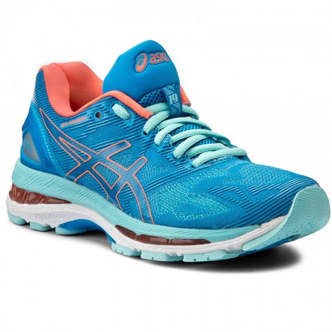 cheaper c2a57 f5d01 Zapatos ASICS - Gel-Nimbus 19 T750N Diva Blue Flash Coral Aqua Splash