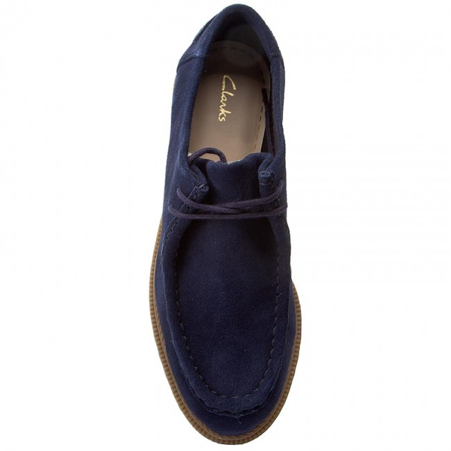 Mocasines CLARKS Griffin Mellow 261267144 Navy Suede
