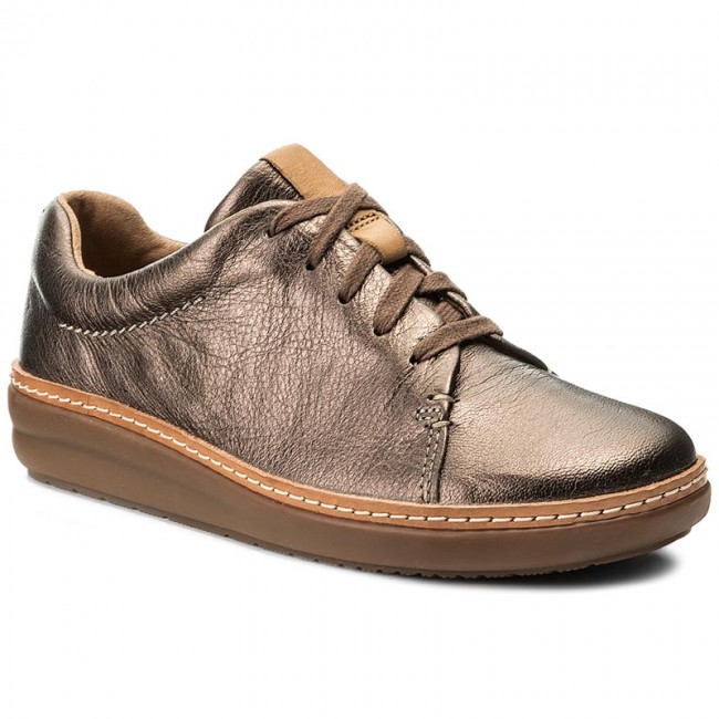 Zapatos CLARKS - Amberlee Crest 261288004 Pewter - Zapatos planos - Zapatos - Zapatos de mujer   Zapatos casuales salvajes