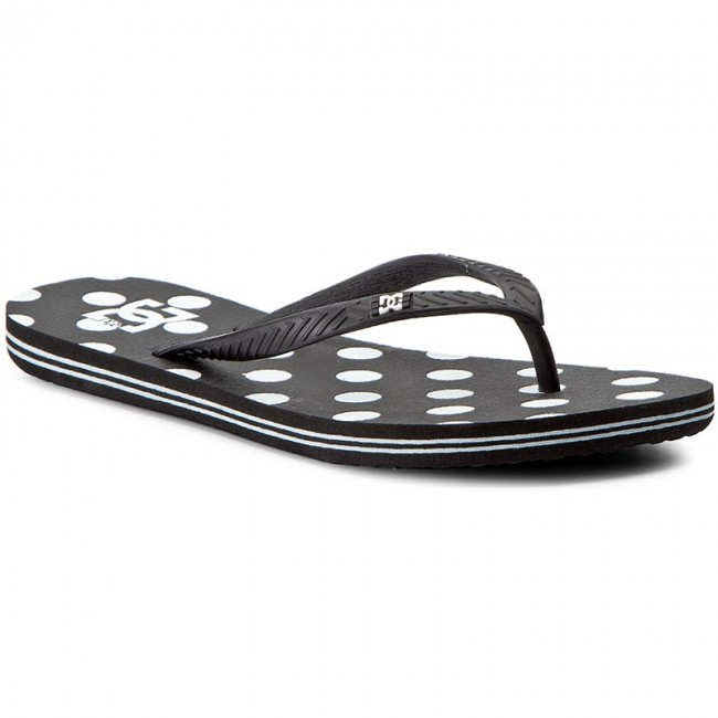 white Dc Printbwp Black Spray Graffik Chanclas 303363 vnw8mN0O