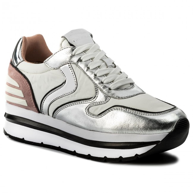 Zapatillas VOILE BLANCHE - May Power 0012012434.04.9132 Argento/Bianco/Pesca - Zapatillas - Zapatos - Zapatos de mujer   Zapatos de mujer baratos zapatos de mujer