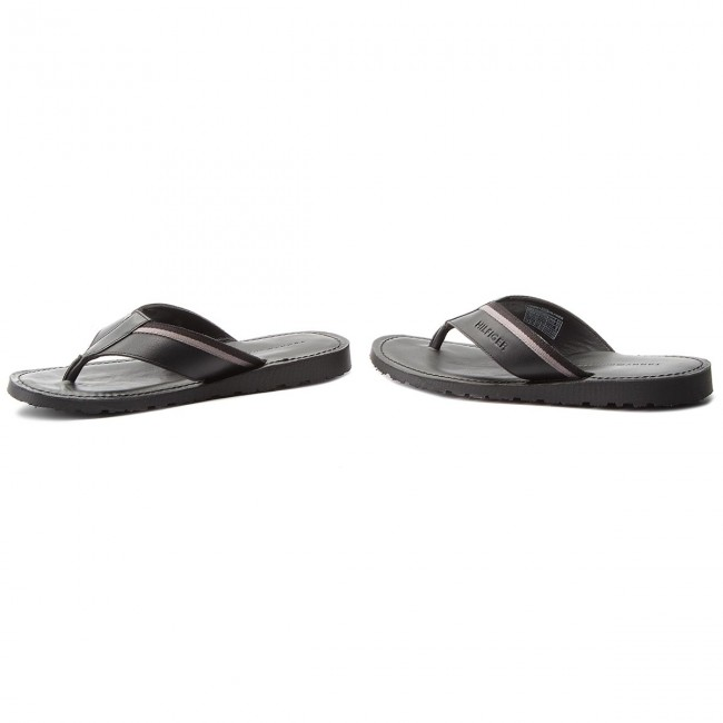 Hilfiger 8 Leather Chanclas 990 Fm0fm01530 Bari Black Casual Tommy Sandal xeBCrdo