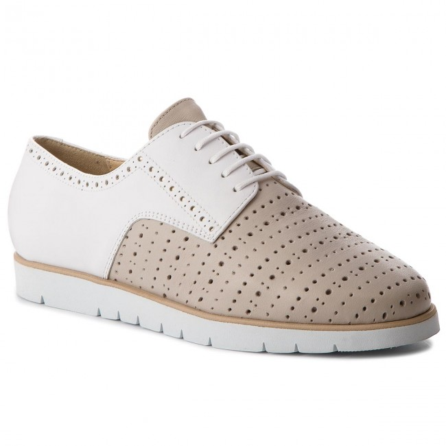 Nuevo descuento zapatos Oxford GEOX - D Kookean D D824PD 00085 CH61Z Lt Taupe/White - Zapatos Oxford - Zapatos - Zapatos de mujer