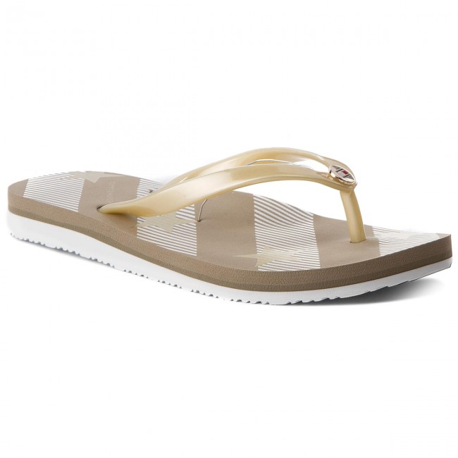 2be889c62a4 Chanclas TOMMY HILFIGER - Stars And Stripes Beach Sandal FW0FW02384  Cobblestone 068