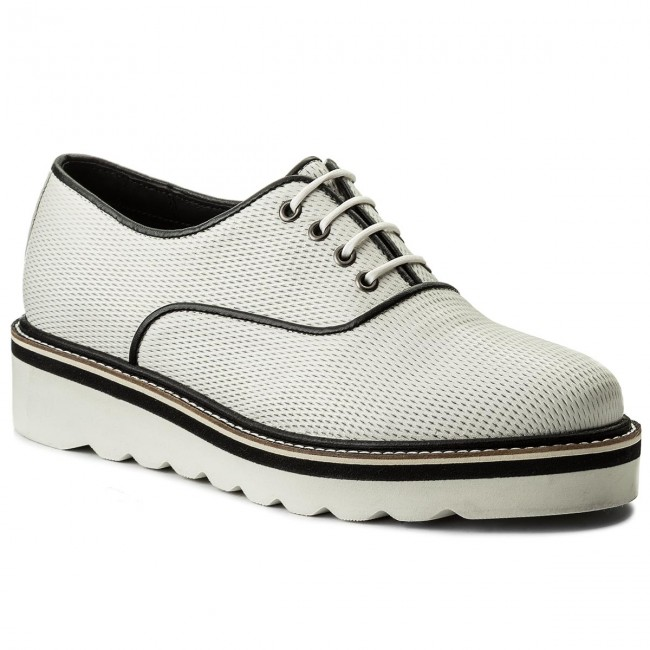 Nuevo descuento zapatos Oxford TOMMY HILFIGER - Sporty Perf Lace Up FW0FW02725  Whisper White 121 - Zapatos Oxford - Zapatos - Zapatos de mujer