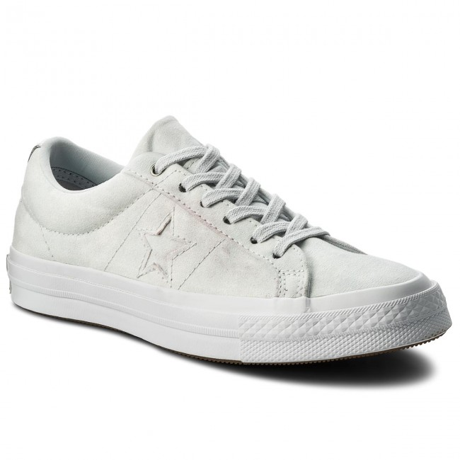 Tenis CONVERSE - One Star Ox 159710C Pure Platinum/Pure Platinum - Zapatillas tenis - Zapatos - Zapatos de mujer   Zapatos casuales salvajes