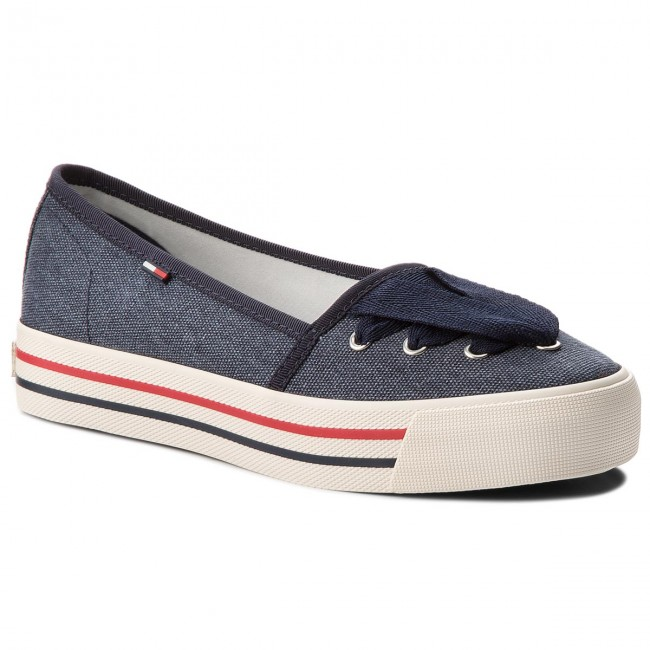 Tenis TOMMY JEANS - Tommy Jeans Lace Zapatillas EN0EN00097  Midnight 403 - Zapatillas tenis - Zapatos - Zapatos de mujer