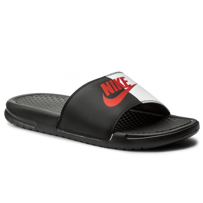 382a151672975 Chanclas NIKE - Benassi Jdi 343880 006 Black Game Red White ...