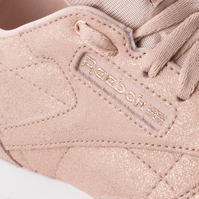 whit Rose Gold Cn5586 Leather beige Zapatos Reebok Classic 76gbyf