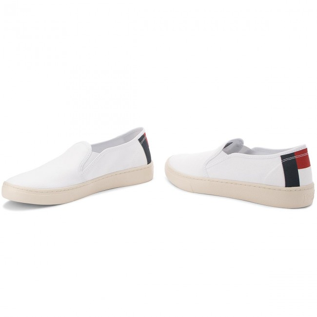 Em0em00152 Slip White Tommy Jeans Light Tenis On 100 MpGVSULqz