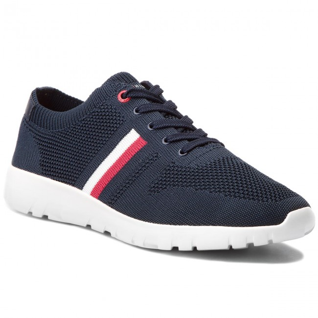 96f2a44c096 Sneakers TOMMY HILFIGER - Extra Lighweight Knitted Runner FM0FM01621  Midnight 403