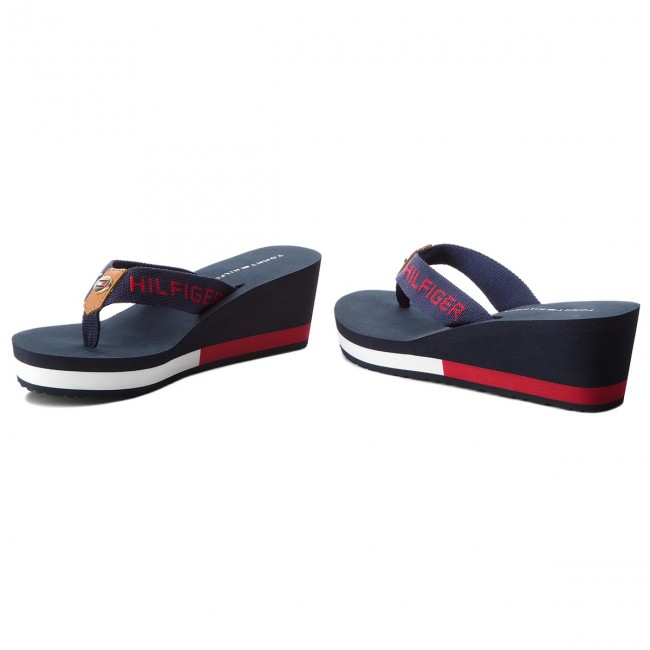 Tommy Fw0fw02958 Chanclas Corporate Beach Sandal Midnight Hilfiger 403 PkOwn80X