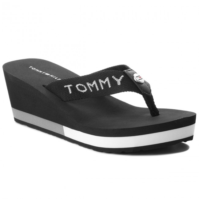 3ee502ce3 Chanclas TOMMY HILFIGER - Corporate Beach Sandal FW0FW02958 Black ...