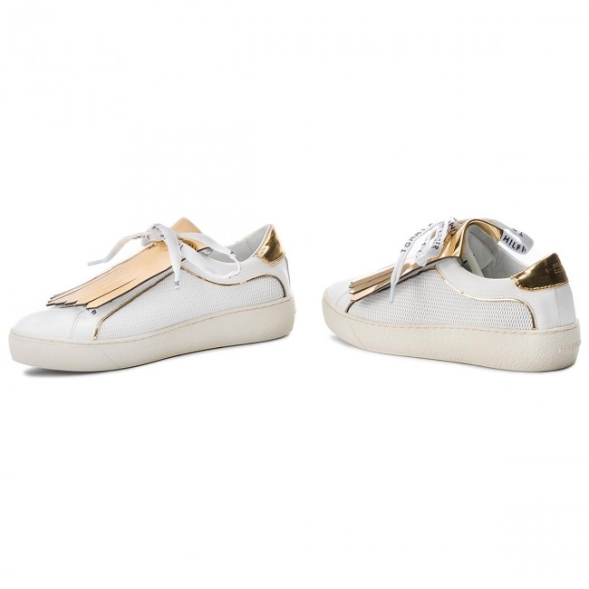 Playful White Fw0fw02978 Sneakers Hilfiger Leather Iconic 100 Tommy Sneaker VUqSMpz