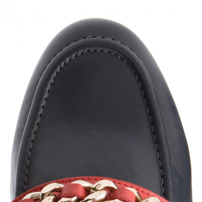 Tommy Chain Zapatos Corporate Fw0fw03396 Hilfiger 406 Loafer Navy Detail 2DEH9I