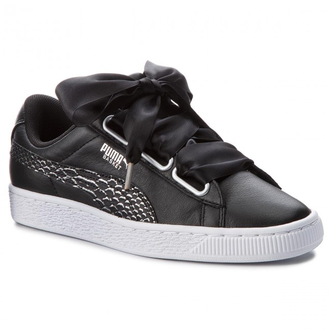 puma Heart Oceanaire Puma Black White Sneakers Basket 366443 01 sQrthdC