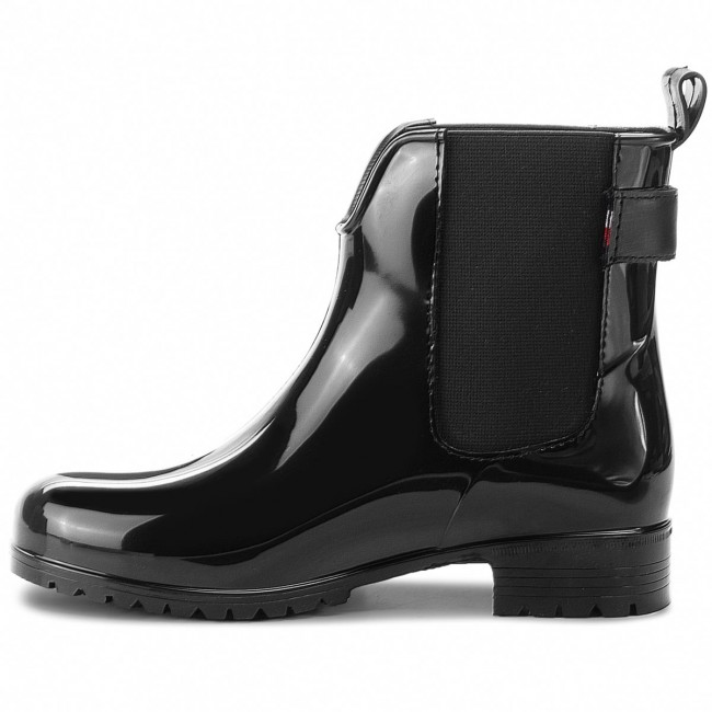 Botas Fw0fw03329 Black 990 Belt Agua Rain Corporate De Hilfiger Tommy l3TFucKJ1