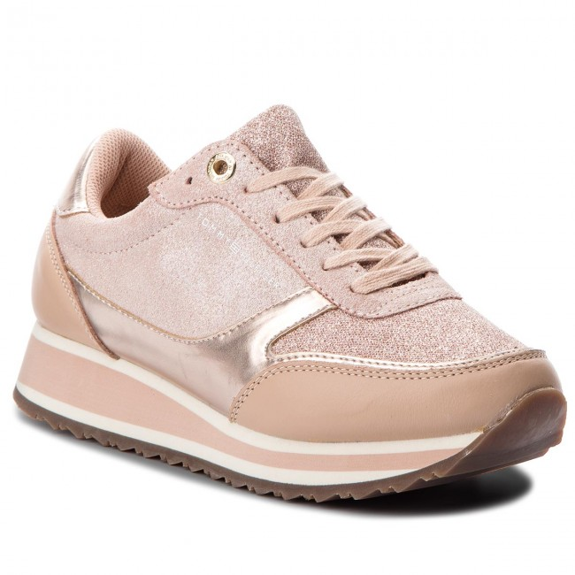 6235d8563a0 Sneakers TOMMY HILFIGER - Metallic Retro Runner FW0FW03337 Mahogany Rose 641
