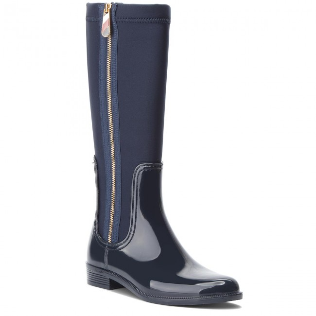 Mix Hilfiger Fw0fw03564 Long De 403 Midnight Agua Ra Botas Material Tommy zpUVqSM