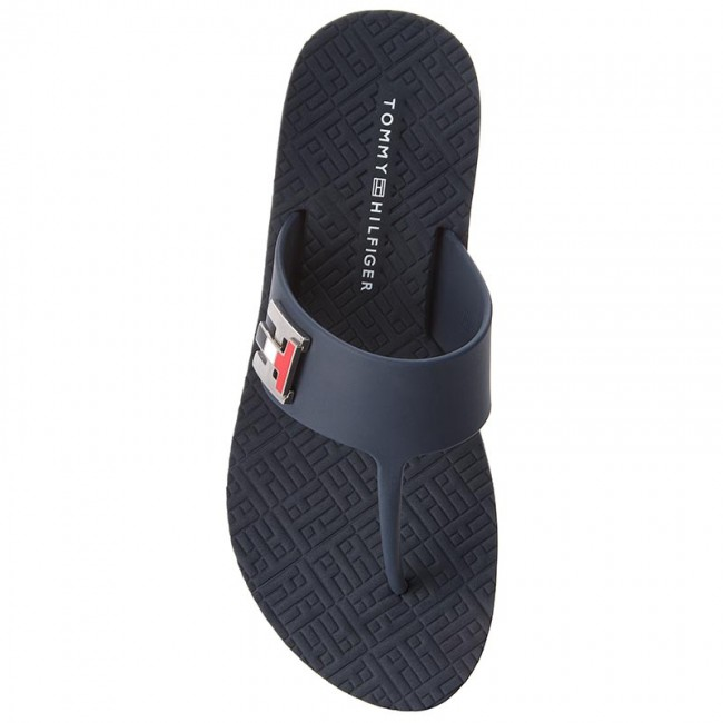 Flat Chanclas Beach 403 Tommy Turn Fw0fw03161 Lock Hilfiger Midnight VSUzMp