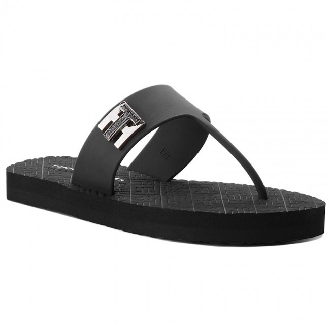 Turn Hilfiger Fw0fw03161 Chanclas 990 Lock Flat Black Tommy Beach R4j5q3AL