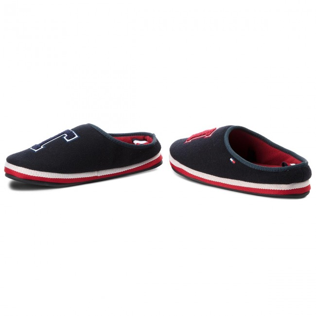 Tommy Fm0fm01786 Badge Pantuflas Homeslipper 403 Hilfiger Midnight fgY7by6