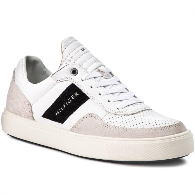 2cded0d2e Sneakers TOMMY HILFIGER - Lightweight Material Mix Low Cut FM0FM01706 White  100