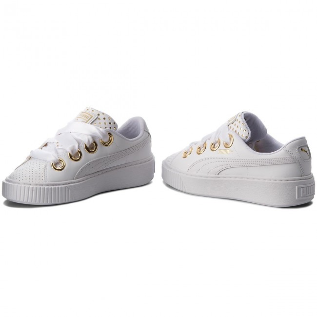 01 Whitepuma Kiss 366704 Platform Puma Lux White Sneakers Ath Wn's dthQrs