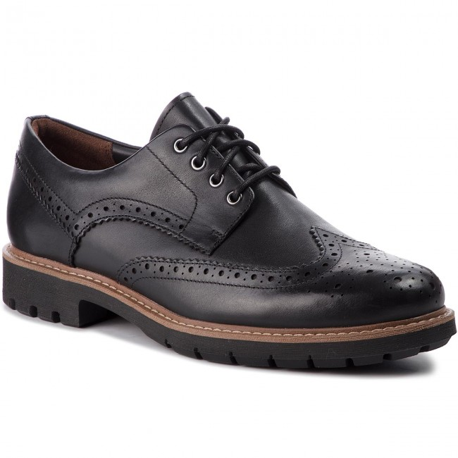 2ed0d773 Zapatos CLARKS - Batcombe Wing 261271927 Black Leather - Para diario ...