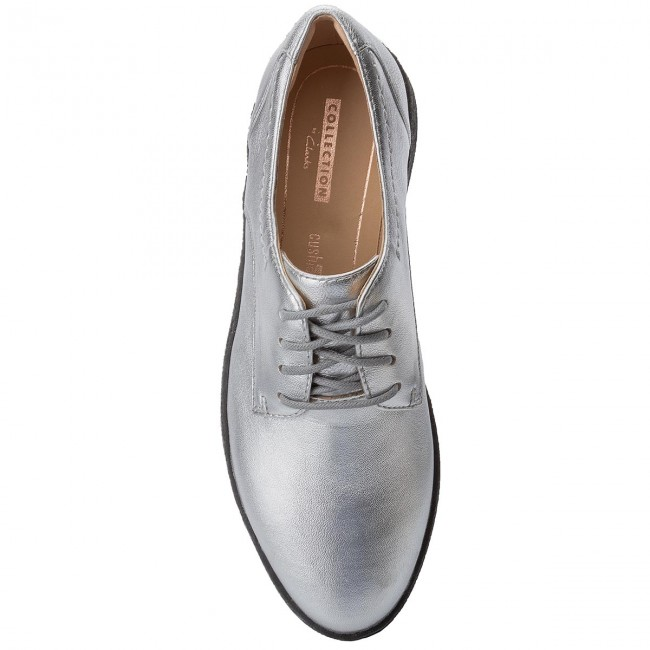 Lillia Lola Zapatos 261364624 Leather Clarks Silver 7gvYf6by