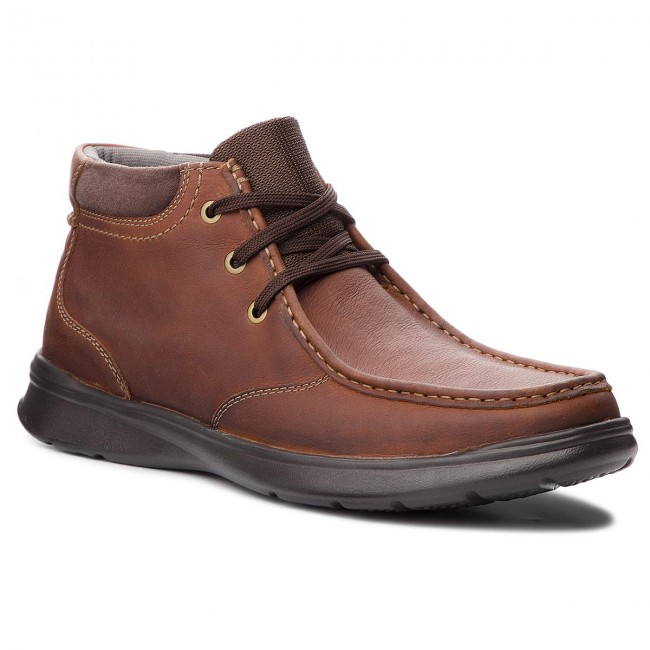 Leather Clarks Botines Top Tobacco 261367067 Cotrell XAxxFB