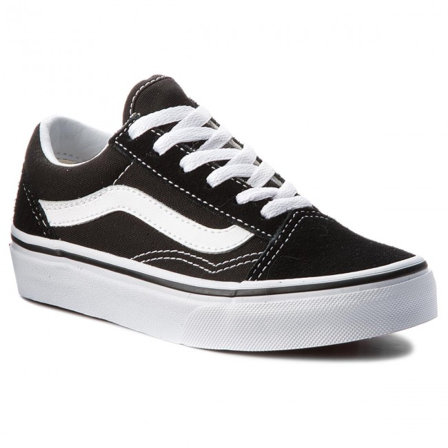 157821e7a82 Tenis VANS - Old Skool VN000W9T6BT Black True White - con cordones ...