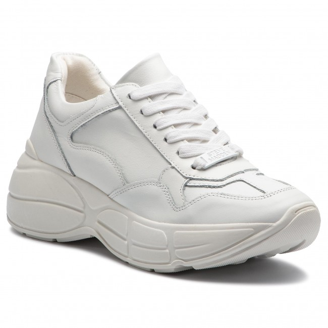0522a59dcf8e8 Sneakers STEVE MADDEN - Memory SM11000321 White Leather - Sneakers ...