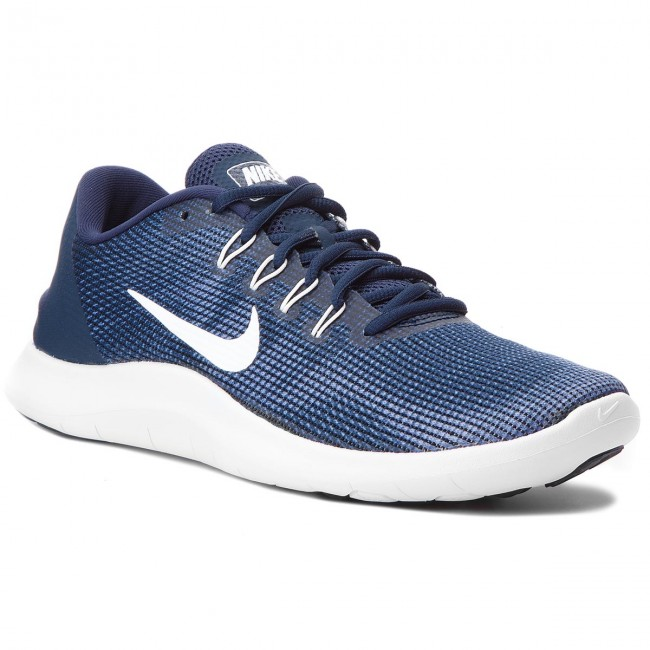 400 Zapatos Flex Rn 2018 white Midnight Navy Aa7397 Nike YWE9I2HD