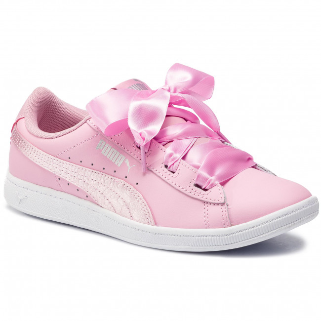 pale Jr 369542 Pink 03 Pink Ribbon L Satin Pale Puma Vikky Sneakers ChQrdts