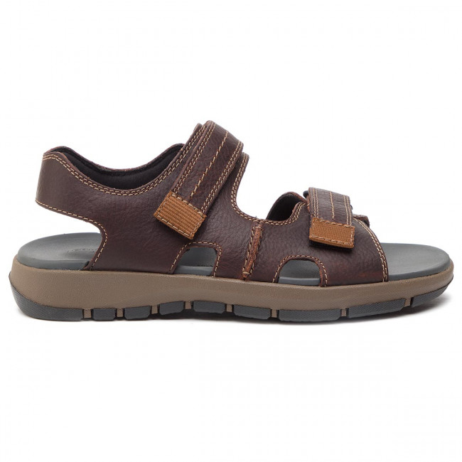 Clarks Brixby Brown Sandalias Dark 261315497 Shore Leather If67Yyvmbg