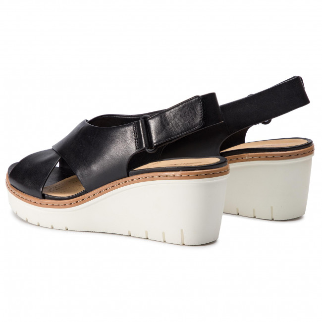 261411674 Black Clarks Leather Candid Palm Sandalias YDIHW9E2