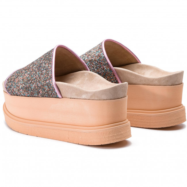 Slipper Glitter w 70104 Inuikii 22 Chanclas Wedge Purple htrCsQxd